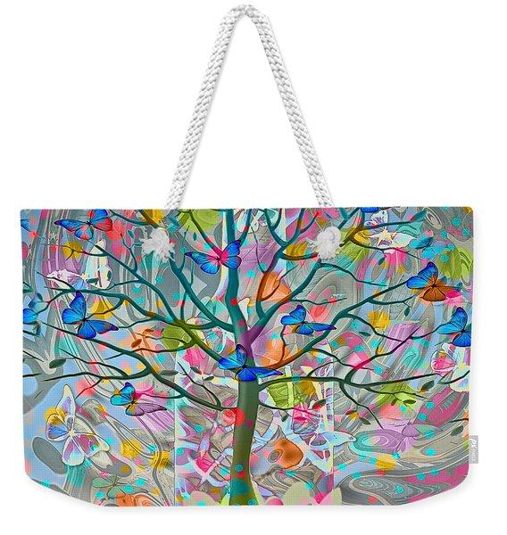 Weekender Tote Bag featuring the digital art Tree Of Life by Eleni Mac Synodinos