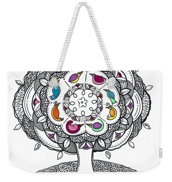 Tree Of Life - Ink Drawing Weekender Tote Bag