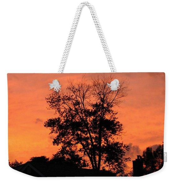 Tree On Fire Weekender Tote Bag