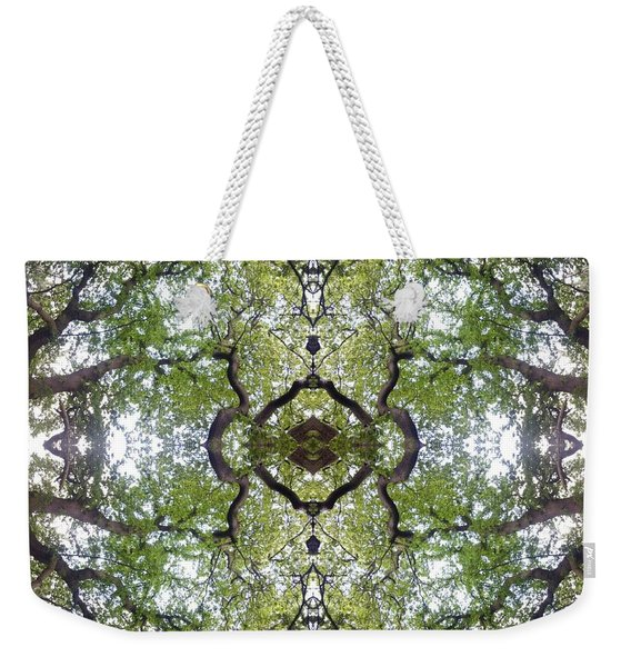 Tree Photo Fractal Weekender Tote Bag
