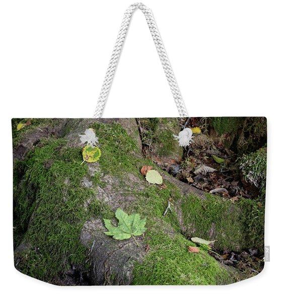 Tree Roots On Forest Floor Weekender Tote Bag
