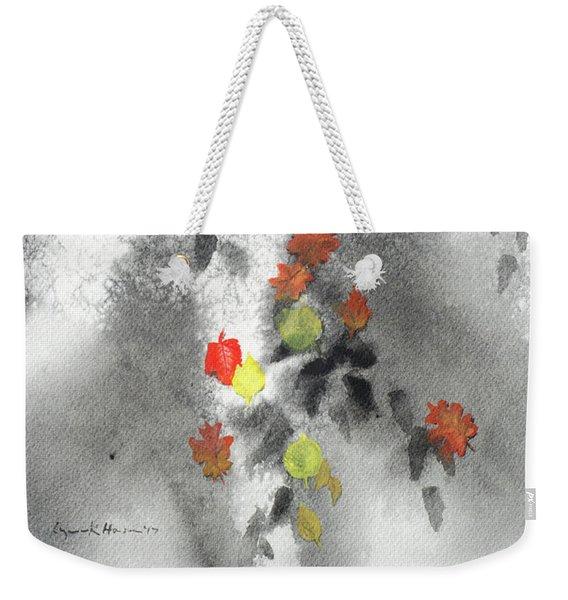 Tree Shadows And Fall Leaves Weekender Tote Bag