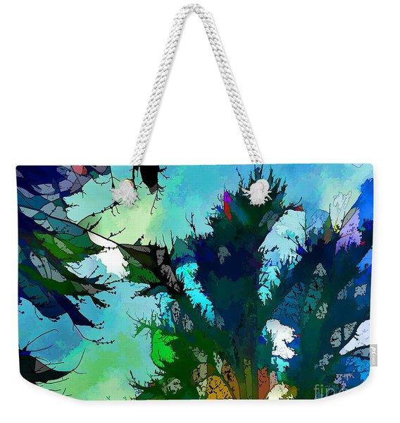 Tree Spirit Abstract Digital Painting Weekender Tote Bag