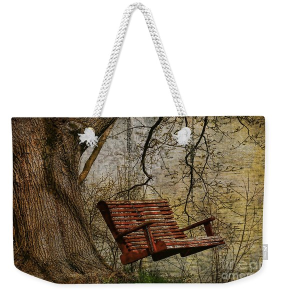 Tree Swing By The Lake Weekender Tote Bag