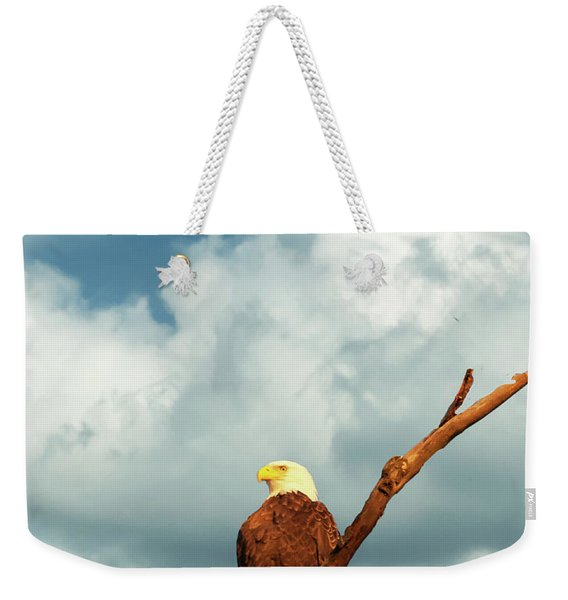 Tree Top Eagle  Weekender Tote Bag