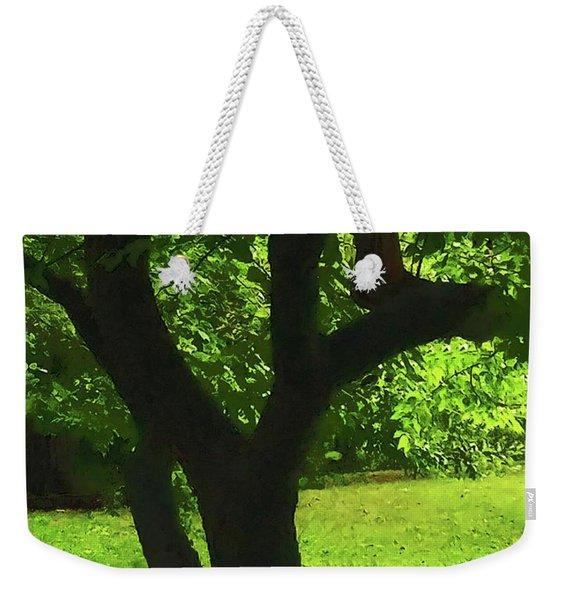 Tree Trunk Green Weekender Tote Bag