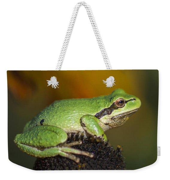Treefrog On Rudbeckia Weekender Tote Bag