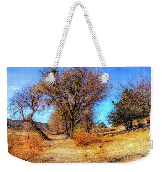 Trees Along Elizabeth Lake Weekender Tote Bag