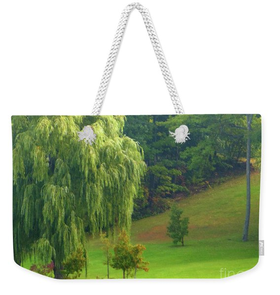 Trees Along Hill Weekender Tote Bag
