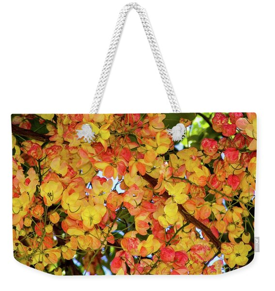 Trees And Flowers In Hawaii Weekender Tote Bag