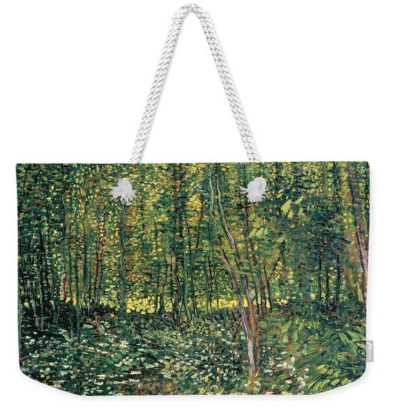 Trees And Undergrowth Weekender Tote Bag