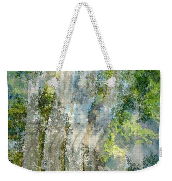 Trees Over Highway Weekender Tote Bag