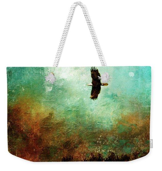 Treetop Eagle Flight Weekender Tote Bag