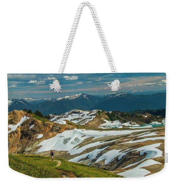 Trekking Ptarmigan Ridge Weekender Tote Bag