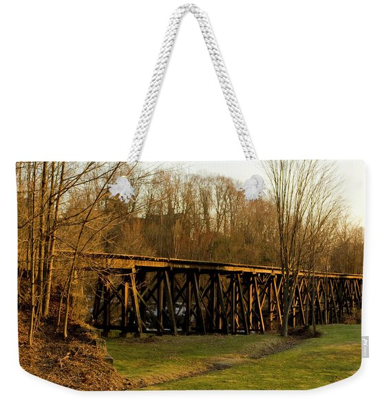 Tressel View Sunset  Weekender Tote Bag