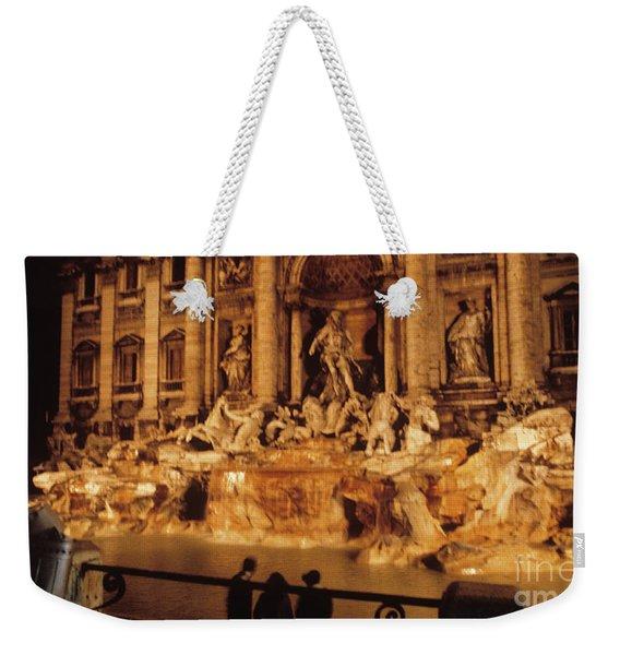 Trevi At Night Weekender Tote Bag