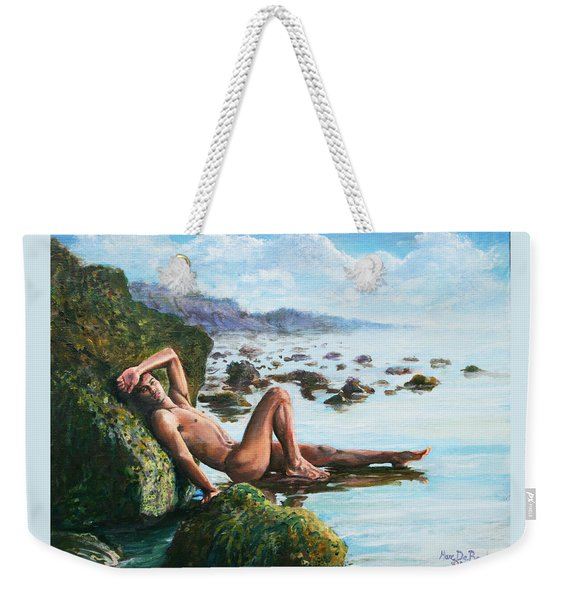 Trevor On The Beach Weekender Tote Bag