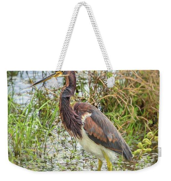Tri-colored Heron Weekender Tote Bag
