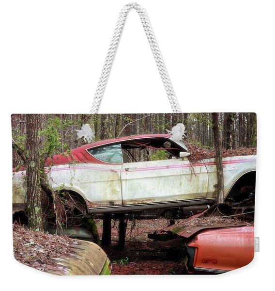 Tri Stack Old Car Image Art Weekender Tote Bag