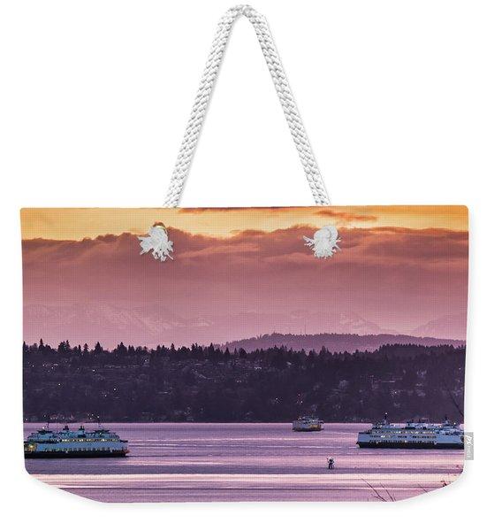 Triangle Ferry Run Weekender Tote Bag