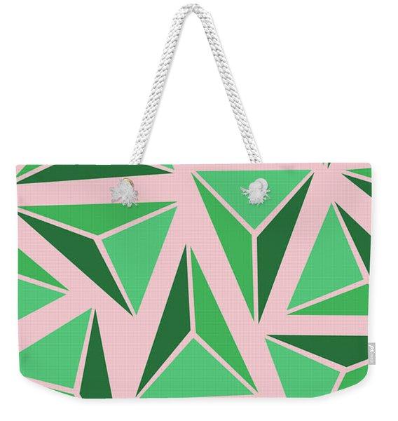 Triangle Geo Weekender Tote Bag