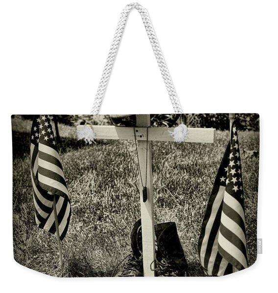 Tribute In Black And White  Weekender Tote Bag