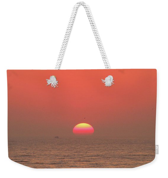 Tricolor Sunrise Weekender Tote Bag