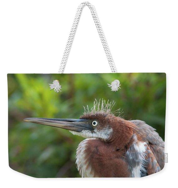Tricolored Heron - Bad Hair Day Weekender Tote Bag