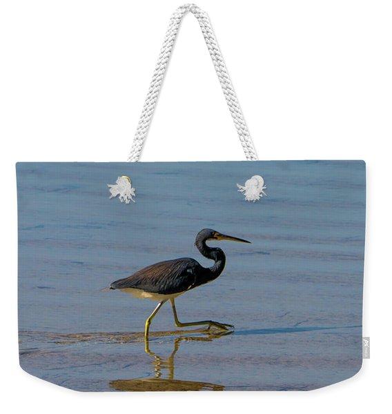 Tricolored Heron Taking A Stroll Weekender Tote Bag
