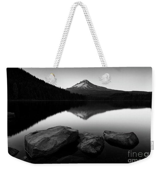 Trillium Lake - Black And White Weekender Tote Bag