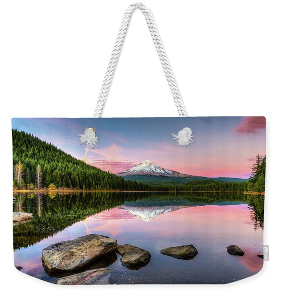 Trillium Lake Reflection Weekender Tote Bag