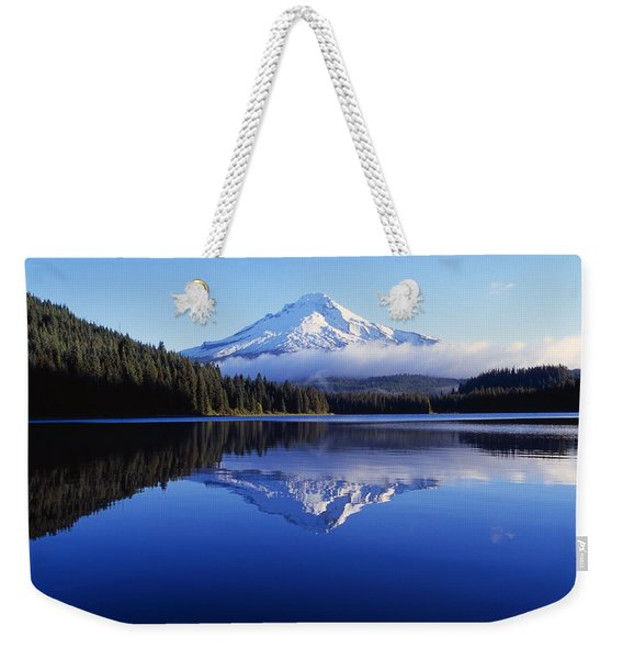 Trillium Lake With Reflection Of Mount Weekender Tote Bag
