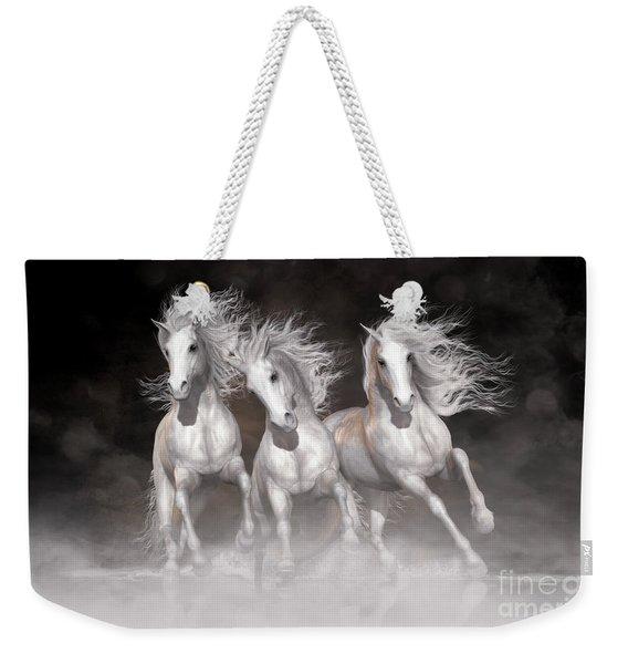 Trinity Horses Neutrals Weekender Tote Bag