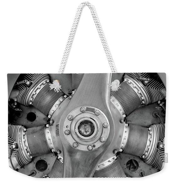 Triplane Engine - 2017 Christopher Buff, Www.aviationbuff.com Weekender Tote Bag