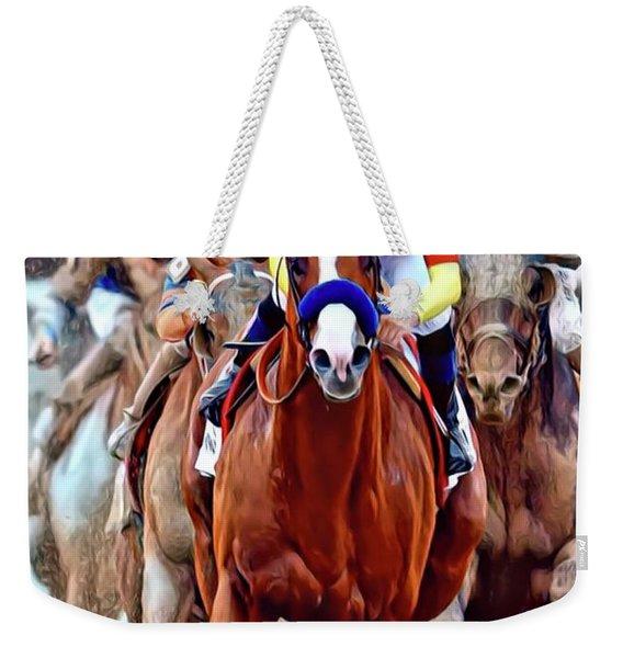 Triple Crown Winner Justify Weekender Tote Bag