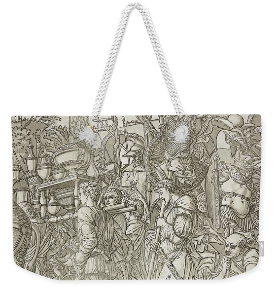 Triumph Of Caesar Weekender Tote Bag