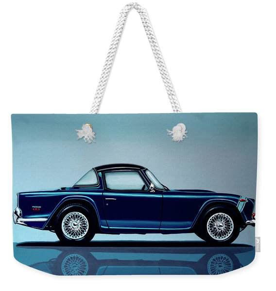 Triumph Tr5 1968 Painting Weekender Tote Bag