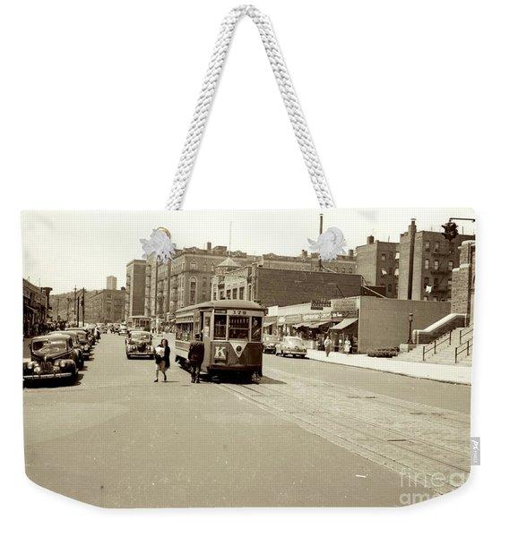 Trolley Time Weekender Tote Bag