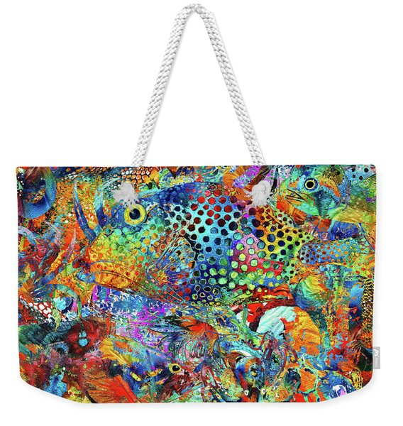 Tropical Beach Art - Under The Sea - Sharon Cummings Weekender Tote Bag