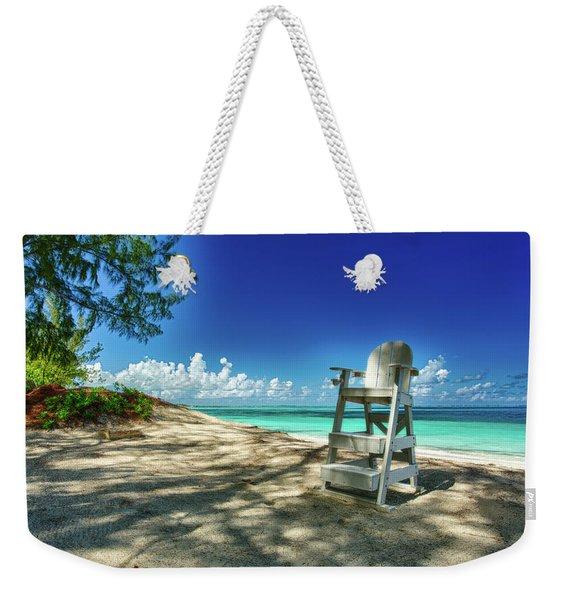 Tropical Beach Chair Weekender Tote Bag