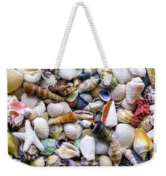 Tropical Beach Seashell Treasures 1500a Weekender Tote Bag