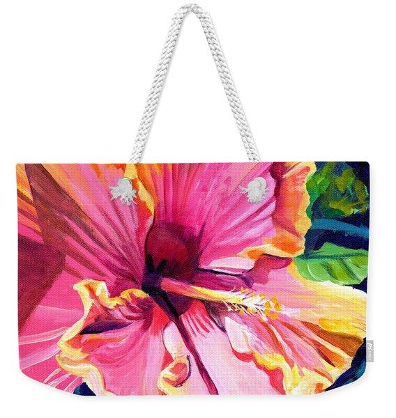 Tropical Bliss Hibiscus Weekender Tote Bag