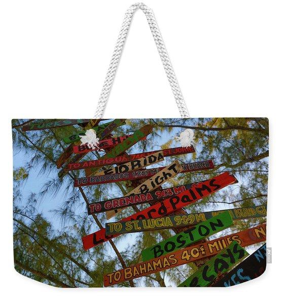 Tropical Directions Weekender Tote Bag