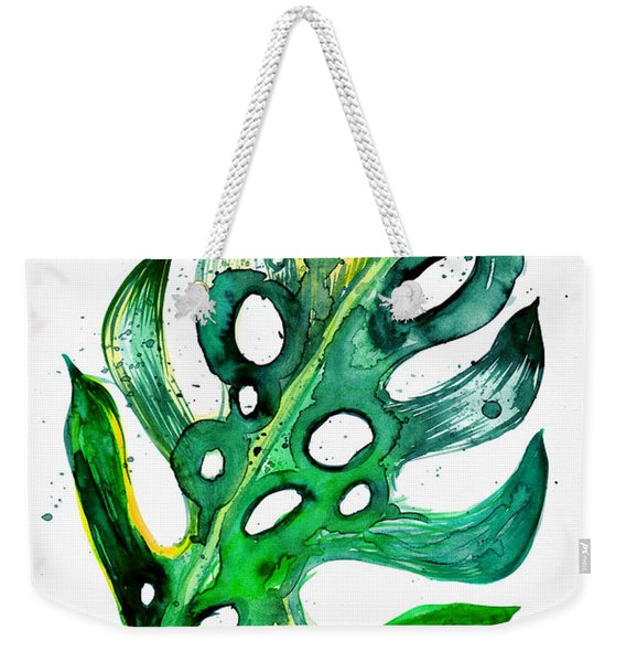 Tropical Greenery - Philodendron Leaf Weekender Tote Bag