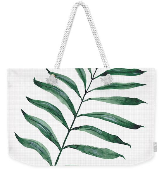 Tropical Greenery - Palm Tree Leaf Weekender Tote Bag