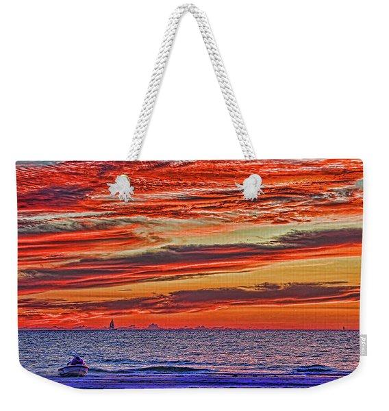 Tropical Gulf Nights Weekender Tote Bag