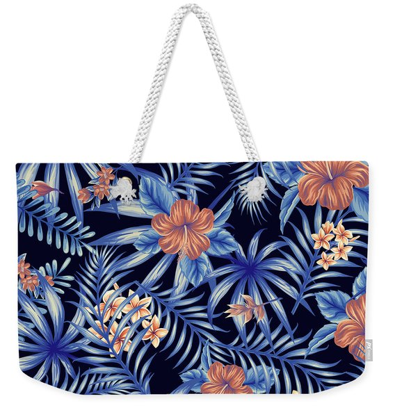Tropical Leaf Pattern 4 Weekender Tote Bag