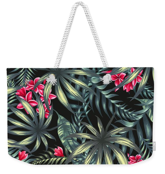 Tropical Leaf Pattern  Weekender Tote Bag