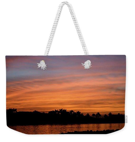 Tropical Moon Weekender Tote Bag