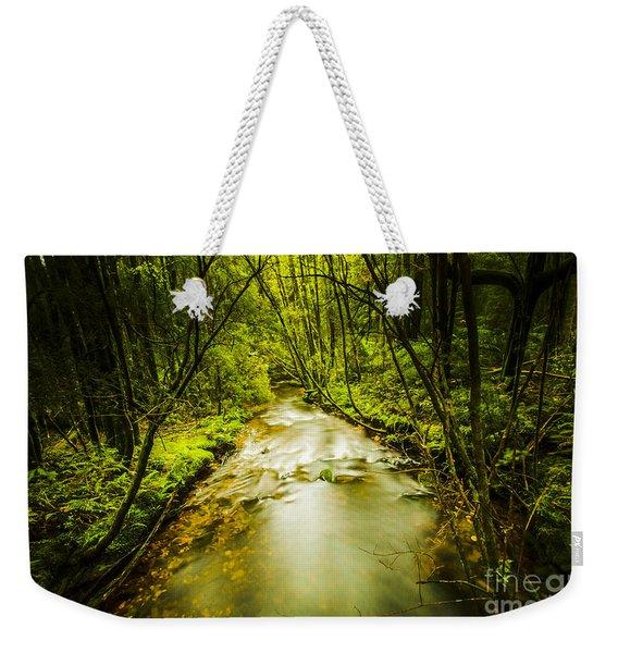 Tropical Rainforest Stream Weekender Tote Bag